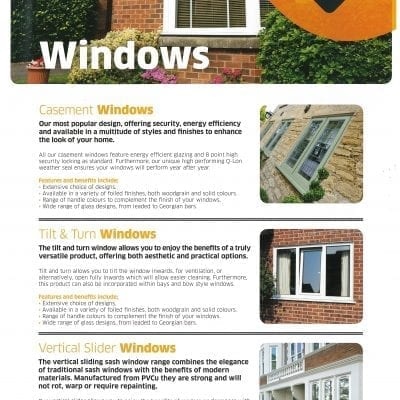 Giraffe doors and windows in Pontefract sell Casement Windows, Tilt and Turn Windows, Vertical Windows Replacement Modern double glazing